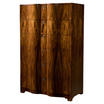 """Tall Contour 38"""" Chest II, Medium Brown, Chest of Drawers"""