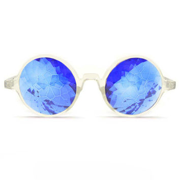 GloFX Clear Kaleidoscope Glasses- Sapphire