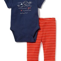 2-Piece Graphic Bodysuit & Leggings Set for Baby | Old Navy