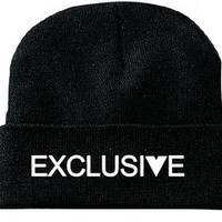 "Sincerely Exclusive — ""EXCLUSIVE"" Beanie"