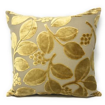 Tache Golden Boughs of Holly Throw Pillow Cushion Cover (YLGP-01)