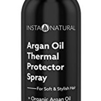 InstaNatural Thermal Protector Hair Spray - Heat Protectant Against Flat Iron - With Organic Argan Oil, Castor Oil, Vitamin B5 & Sunflower Seed Oil - Prevents Dryness, Damage & Split Ends - 8 OZ