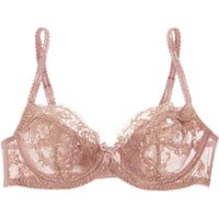 L'Agent by Agent Provocateur - Iana metallic lace and stretch-tulle balconette bra