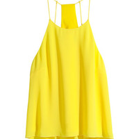 H&M - Woven Tank Top - Yellow - Ladies
