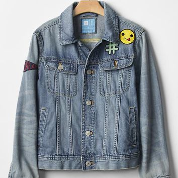 Gap Girls Gapkids X ED Customizable Denim Jacket