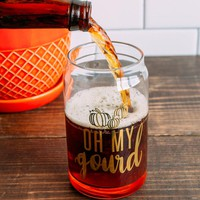 Oh My Gourd Pint Glass