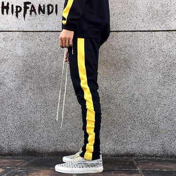 Mens Zipper Pocket Anke Zip Track Pants Long Dawstring Sweatpants Fear Of God Side Striped Retro Man