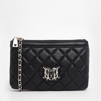 Love Moschino Quilted Shoulder Bag with Chain Strap