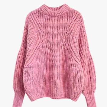 Oversized Crop Knit Sweater