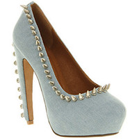Jeffrey Campbell MADAME BLUE DENIM Shoes - Womens High Heels Shoes - Office Shoes