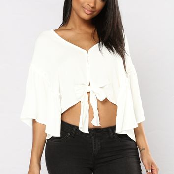 Lyric Crop Top - Ivory