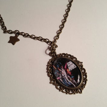 Star Wars Poster Cameo Necklace