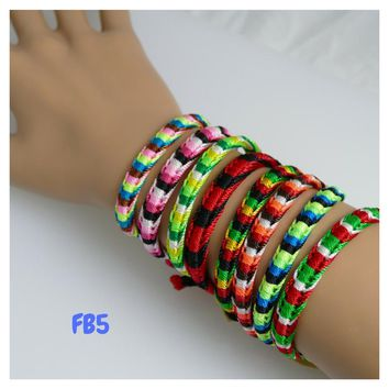 100 Friendship Bracelets Assorted Model FB5 Peruvian Friendship Bracelets