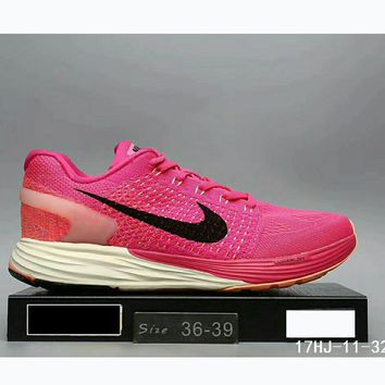 Nike Lunarglide 7 Moon Fly line sports running shoes sneakers F-HAOXIE-ADXJ Pink