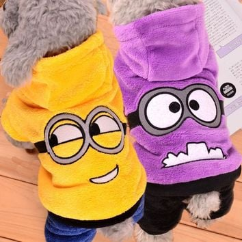 Warm Winter Pet Dog Clothes Fleece Costume Sweater Cute Pets Hoodie Clothes Puppy Coat Outfit Dog Clothing for Small Dogs 39S1