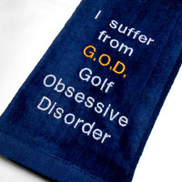 Golf Towel, Golf Gift, Gift for Him, Quality Golf Towel, Custom Golf, Funny Golf Gift, Tri Fold Towel, Golf Addict Gift, Golf Birthday, Dad