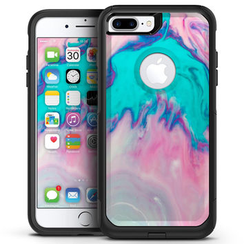 Marbleized Pink and Blue Paradise V432 - iPhone 7 or 7 Plus Commuter Case Skin Kit