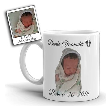 Custom Illustrated Baby Coffee & Tea Mugs by Tote Tails