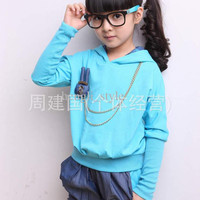 New Spring Girls' Children Long Sleeve Sportwears Rabbit Kids' Casual Outfits/sets Children Clothing