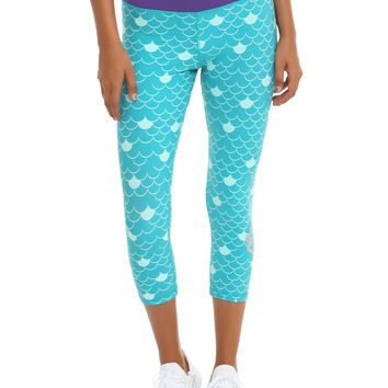 Disney The Little Mermaid Ariel Scale Girls Active Capris