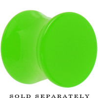 00 Gauge Lime Green Acrylic Saddle Plug | Body Candy Body Jewelry