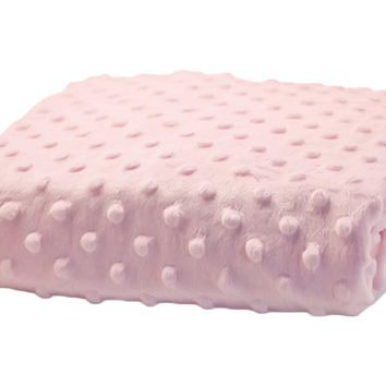 Rumble Tuff Kit Minky Dot Contour Compact Powder Pink Changing Pad Cover