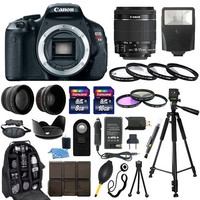 Canon EOS Rebel T3I SLR Camera Body +18-55mm IS Lens + 30 Piece Accessory Bundle