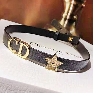 DIOR CD Fashion Letter Star Diamond Necklace And Can Do Bracelet Accessories
