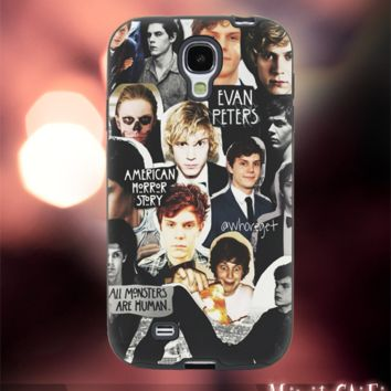 MC1002Y,11,Evan Peters,American Horror Story -Accessories case cellphone-Design for Samsung Galaxy S5 - Black case - Material Soft Rubber