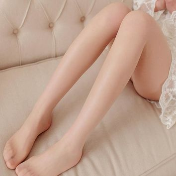 QA86 5D crystal ultra-thin anti-off silk stockings women sheer glass tights sexy fashion footed pantyhose