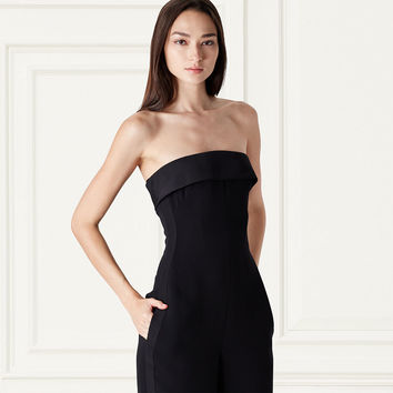 Cate Strapless Silk Jumpsuit