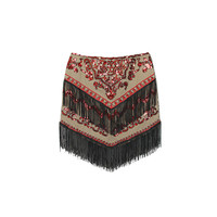 EMBELLISHED FRINGE SKIRT (2 colors)