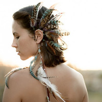 wild child... tribal feather ear cuff