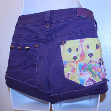 purple lisa frank STICKER 90s shorts