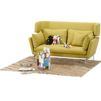 suita two-seater firm sofa w/ head section