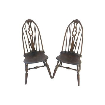 Pre-owned Antique Gothic Chairs - A Pair