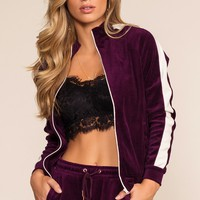Track It Jacket - Plum