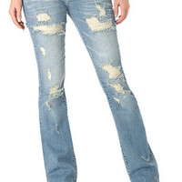 Alloy Destroyed Vintage Stretch Bootcut Jean