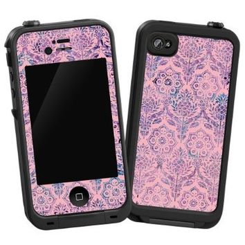 "Vintage Purple and Pink Damask ""Protective Decal Skin"" for LifeProof 4/4S Case:Amazon:Cell Phones & Accessories"