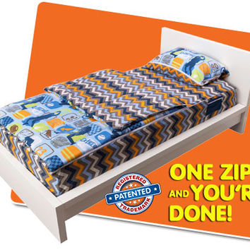 Zipit Bedding | Works Like a Sleeping Bag… You Just Zipit! Fun, Fast and Easy!