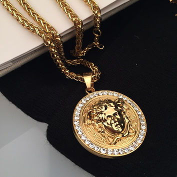 Shiny Gift New Arrival Jewelry Stylish Hot Sale Fashion Accessory Hip-hop Korean Couple Necklace [6544256131]