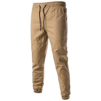 Men Causal Harem Pants Autumn Solid Color Streetwear Hip Hop chinos Trousers Jogger Cotton Sweatpants Elastic Cuff Plus Size 3XL