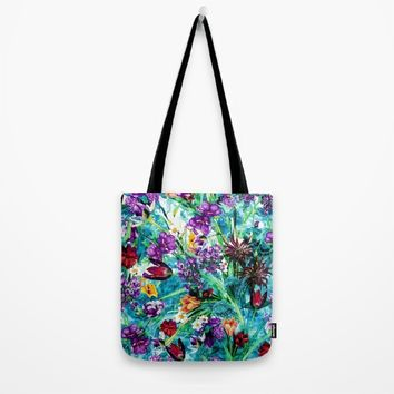 Floral Jungle Tote Bag by RIZA PEKER