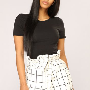 Camila Short Sleeve Top - Black