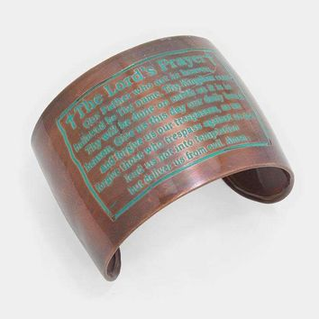 The Lord's Prayer _ Hand Made Metal Cuff Bracelet