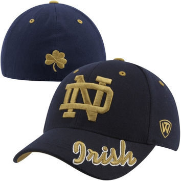 Top of the World Notre Dame Fighting Irish Top Notch 1Fit Flex Hat - Navy Blue