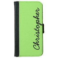 CHOOSE YOUR COLOR or Neon Lime Green Custom Wallet Phone Case For iPhone 6/6s