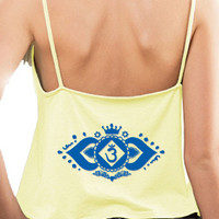 Yoga Clothing for You Womens Floral Ajna Chakra Spaghetti Tank Top