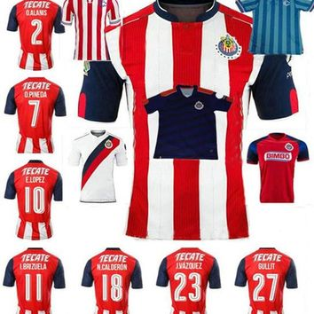 Top quality Mexican soccer jerseys 16 17 Chivas survetement football shirts 2017 Guada