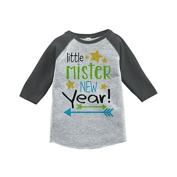Custom Party Shop Kids Little Mister New Year Raglan Shirt